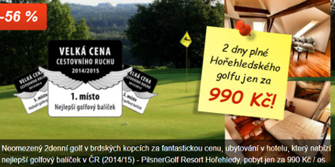 2 dny plné Hořehledského golfu za 990 Kč