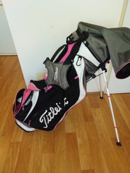 TITLEIST lady stand bag PINK 6 WAY