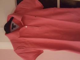 Růžové tričko s limeckem krátký rukáv